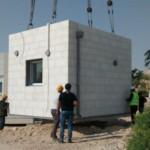 בונים את הבית החדש בקיבוץ לוטן