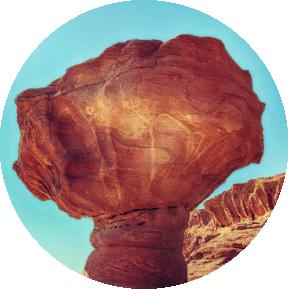 red mushroom stone at Timna Park