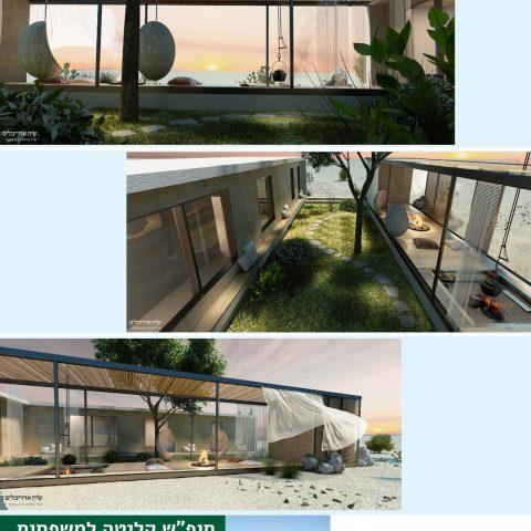הדמיית בתים-בית בקיבוץ-בניה מרוכזת