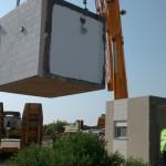 בונים את הבית החדש בקיבוץ לוטן הממד באוייר