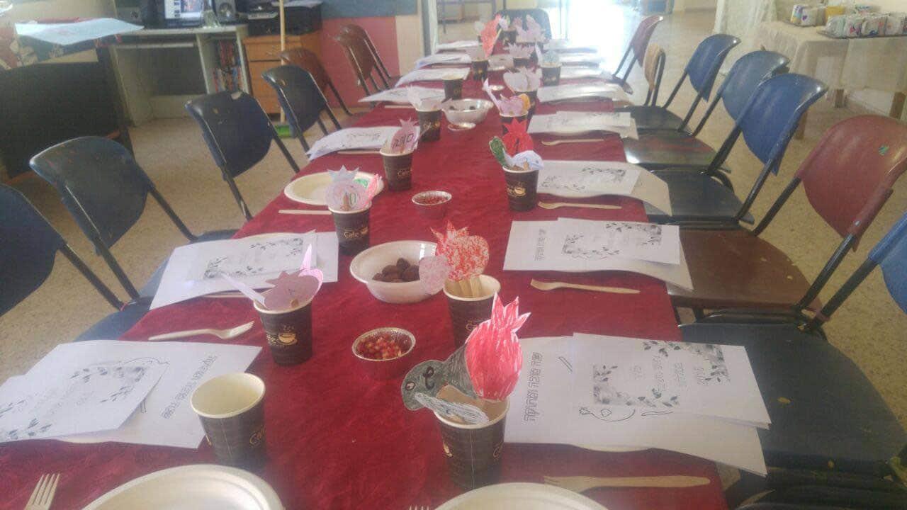 ארוחת חג בבית הירוק
