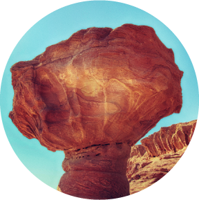 red mushroom stone at Timna Park